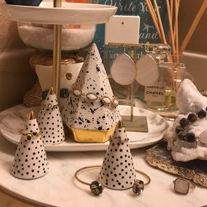 Oui Cherie set of 3 Decorative Ring Cones